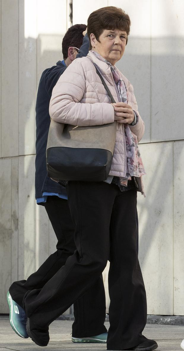 28/03/19 Sarah English (59) of Primrose Grove, Darndale, Dublin pleaded guilty at Dublin Circuit Criminal Court to assault causing harm to Mr Clarke at Belcamp Green, Priorswood on July 12, 2016. Photo: Collins Courts