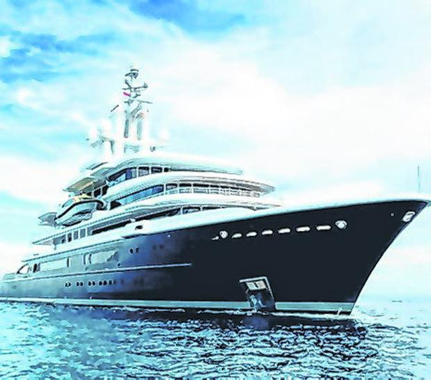 Costly: Superyacht MV Luna