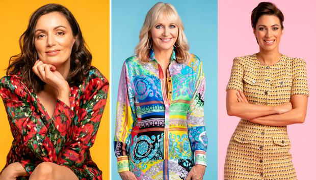 (L to R) Louise Duffy, Miriam O'Callaghan and Georgie Crawford for Weekend magazine