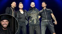Boyzone perform Farewell Tour at 3Arena, Dublin, Ireland, centre, and Keith Duffy, inset