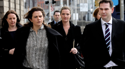 Money problem: (left-right) Aoife, Brenda, Ciara, Colette (hidden) and Seán Quinn Jnr suffered a huge setback in their battle with the IBRC. Photo: Collins