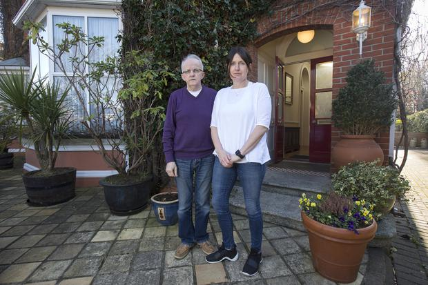 Call for support: Pat Halpin and Ann Keane, proprietors of the Aberdeen Lodge in Sandymount, Dublin, who have been threatened with eviction over their debts. Photo: Tony Gavin