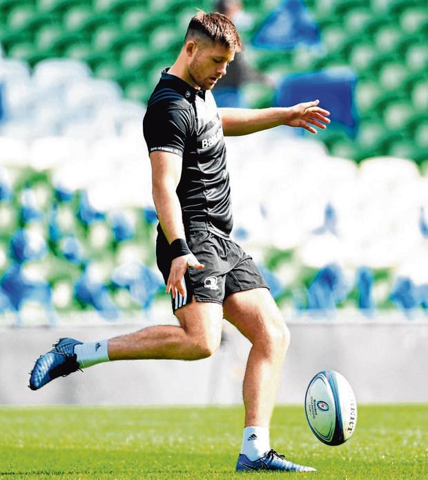 Ross Byrne starts at 10 today for Leinster against Ulster in Dublin. Photo: Ramsey Cardy/Sportsfile