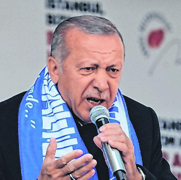 Made pledge to supporters: President Tayyip Erdoðan. Photo: Reuters