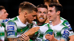 Shamrock Rovers' Jack Byrne (centre) has been impressive this season. Photo: Sportsfile