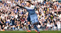 Pablo Hernandez of Leeds United celebrates after scoring during the Sky Bet Championship match between Leeds United and Millwall at Elland Road on March 30, 2019. (Photo by George Wood/Getty Images)
