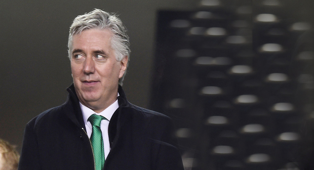 UNDER PRESSURE: John Delaney at the Ireland vs Georgia game. Photo: Clodagh Kilcoyne