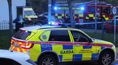 Emergency workers at the scene of the incident in Mulhuddart