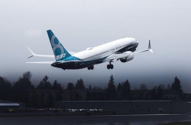 PRESSURE: A Boeing 737 Max 8 takes off during a test flight. Picture: Reuters