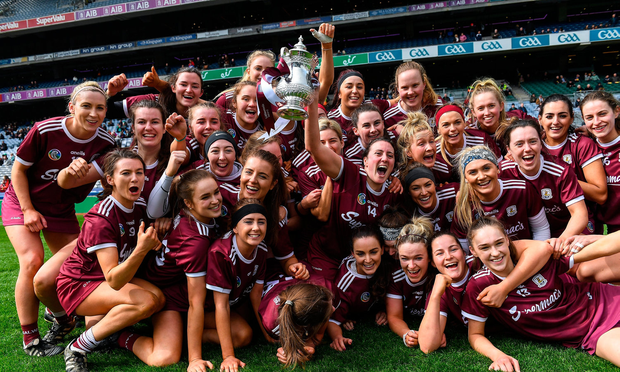 Galway players celebrate