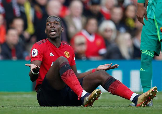 Disappointing: Paul Pogba. Photo: Reuters