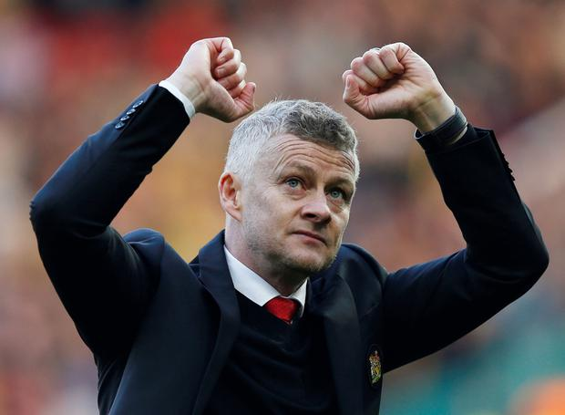 Honest appraisal: Solskjaer got the win but was unhappy with the performance. Photo: Reuters
