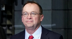 "Mulvaney: ""We need border security and we're going to do the best we can with what we have."" Photo: Reuters"