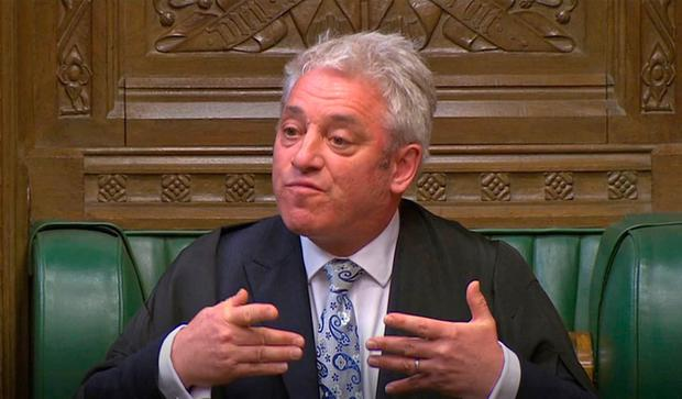 Speaker John Bercow addresses the House of Commons during a Brexit debate ahead of a second round of votes on alternative proposals to the government's Brexit deal. House of Commons/PA Wire