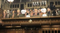 Protesters in the public gallery Pic: James Heappey MP Twitter