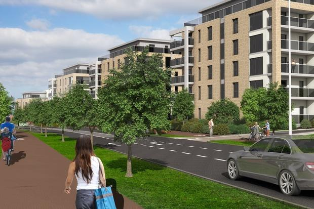 Mass sale: Some 282 apartments in the Citywest development are being sold in one block