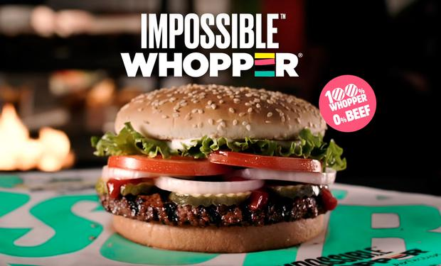 The Impossible Whopper has been described as the Whopper's