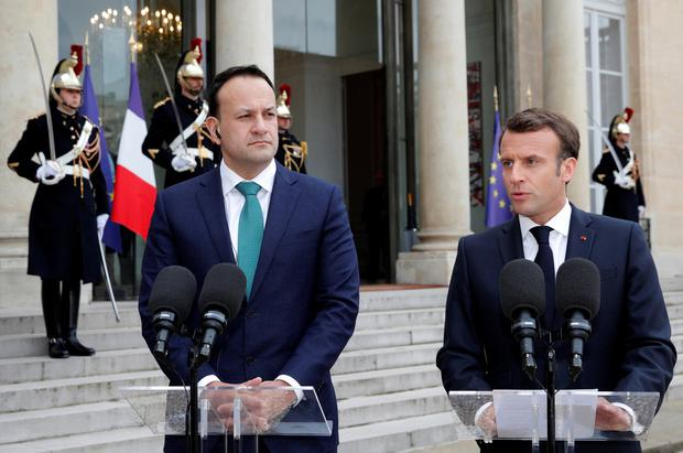 Macron, Irish PM urge United Kingdom  to propose alternative Brexit plan