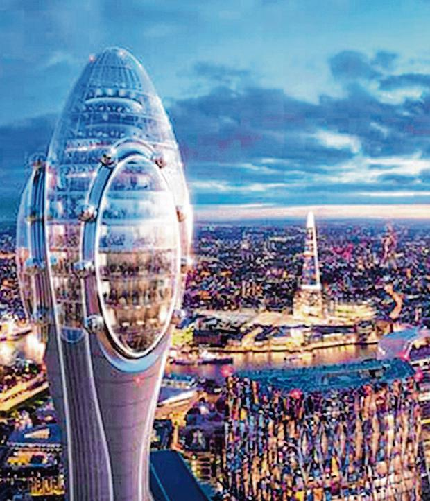 Green light: Planners said the Tulip Tower 'deserves its place on the skyline' Photo: Foster + Partners/PA Wire