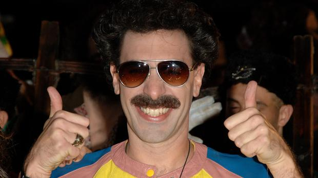 Sacha Baron Cohen as Borat (Ian West/PA)