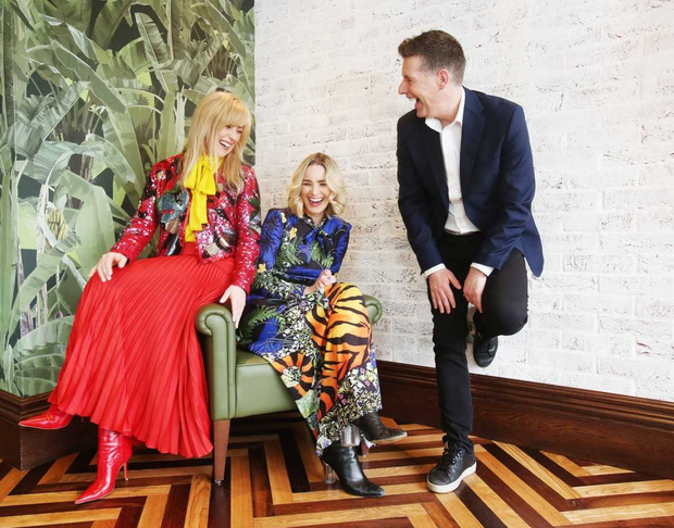 Interior architect Róisín Lafferty, interior designer Suzie McAdam, and architect Dermot Bannon at the launch of house 2019