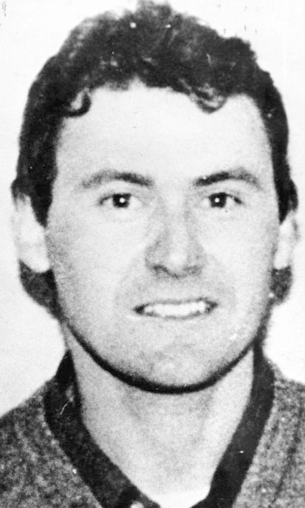 Dessie O'Hare in the 1980s, when he was at the height of his terror rampage around the Border area