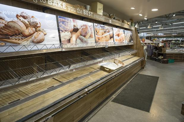 Bread shortages during Storm Emma. Photo: Arthur Carron