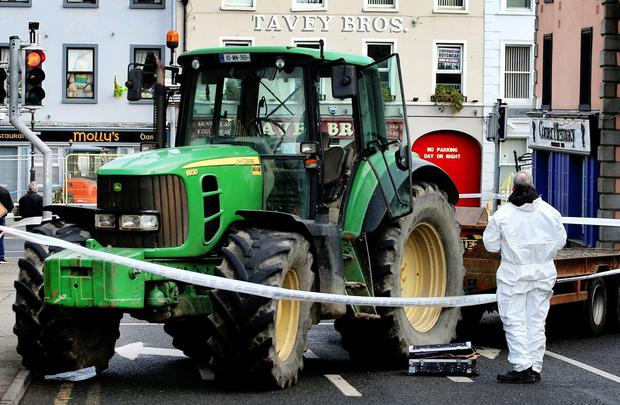 A tractor was also used. Photo: Steve Humphreys