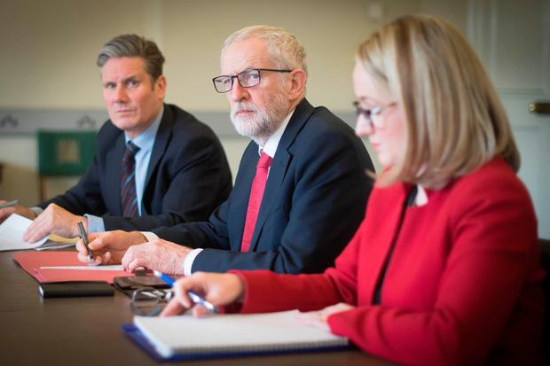 Labour leader Jeremy Corbyn (centre). Photo: Stefan Rousseau/PA Wire