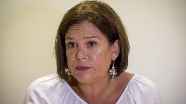Sinn Fein President Mary Lou McDonald does not want a hard Irish border post-Brexit (Liam McBurney/PA)