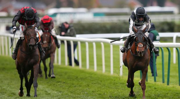 Top Wood battles back to deny Burning Ambition in Foxhunters' Chase over Grand National fences at Aintree