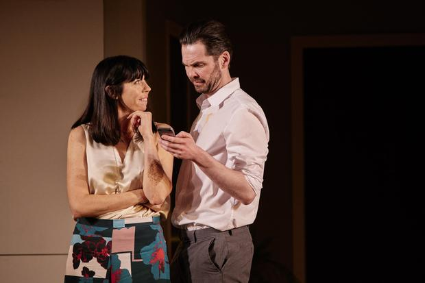 Acting craft: Eileen Walsh and Marty Rea play Laura and Danny in Beginning. Photo: Ros Kavanagh