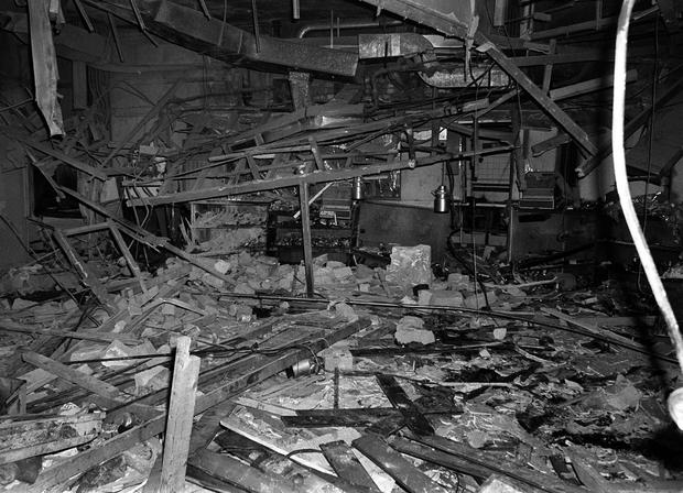 Carnage: The Mulberry Bush pub after the bombing in 1974. Photo: PA