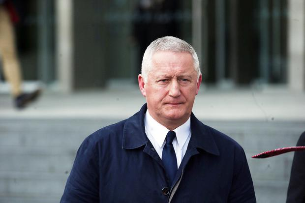 Notes: Chief Supt Dominic Hayes leaving court where he gave evidence about notes that were taken when part-time DJ Bobby Ryan went missing and when his body was later found. Photo: Collins