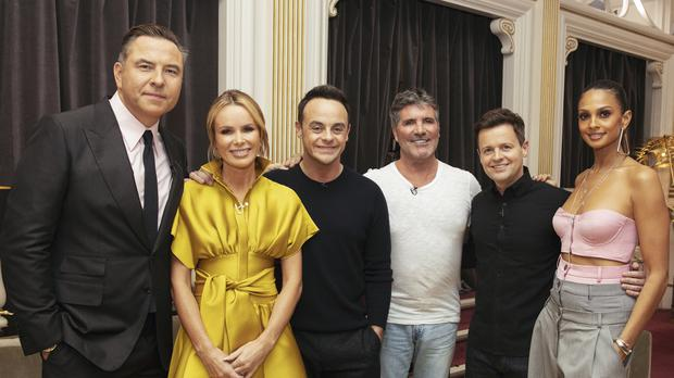Britain's Got Talent judges David Walliams, Amanda Holden, presenter Anthony McPartlin, Simon Cowell, presenter Declan Donnelly and Alesha Dixon (Tom Dymond/Syco/Thames ITV)