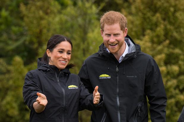 Prince Harry, Duke of Sussex and Meghan, Duchess of Sussex attend the unveiling of The Queen's Commonwealth Canopy in Redvale on October 30, 2018 in Auckland, New Zealand