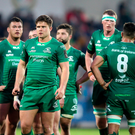 6 April 2019; Connacht players look dejected during the Guinness Pro14 Round 19 game between Zebre Rugby Club and Connacht Rugby at Stadio Lanfranchi in Parma, Italy. Photo by Roberto Bregani/Sportsfile