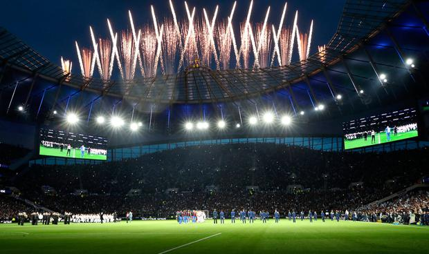 Tottenham will be determined to make home advantage count when they face Manchester City at their brand new stadium in Tuesday's Champions League quarter-final first leg. Photo: Nick Potts/PA