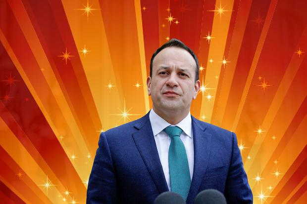 STARS IN HIS EYES: Leo Varadkar's eagerness to meet Kylie Minogue at her Dublin concert seems to have overcome his desire to appear like a serious statesman. Photo: Christophe Ena/AP Photo