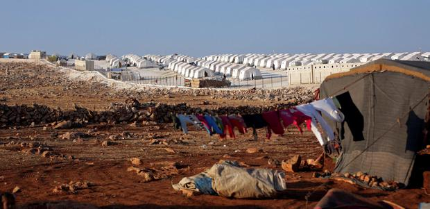 A general view of a Syrian refugee camp. Ireland is one of more than 25 countries liaising with US authorities in relation to repatriation of citizens from the war-torn region. Photo: REUTERS