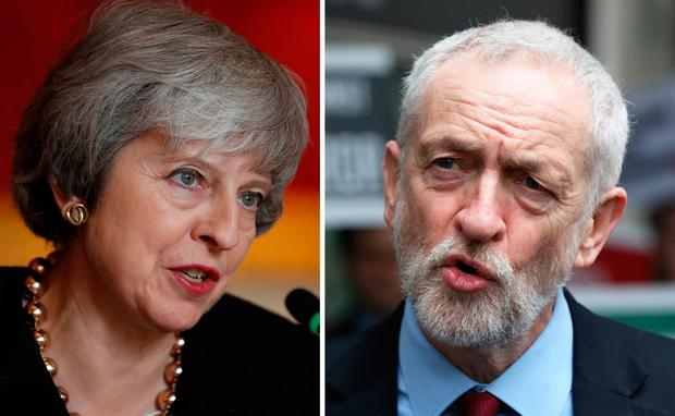 Prime Minister Theresa May and Labour leader Jeremy Corbyn. Photo: PA