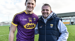 Wexford manager Davy Fitzgerald with Lee Chin
