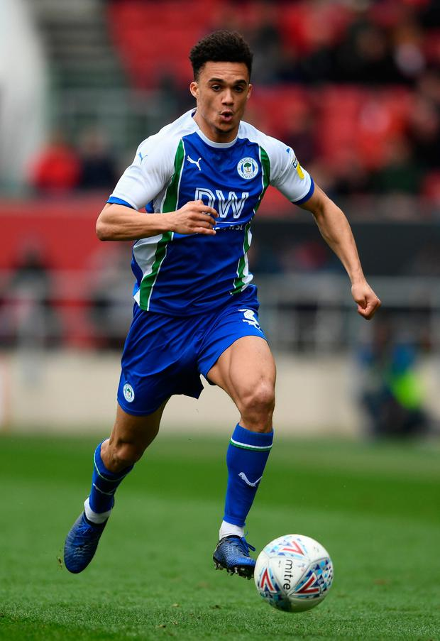 Nathan Byrne of Wigan Athletic
