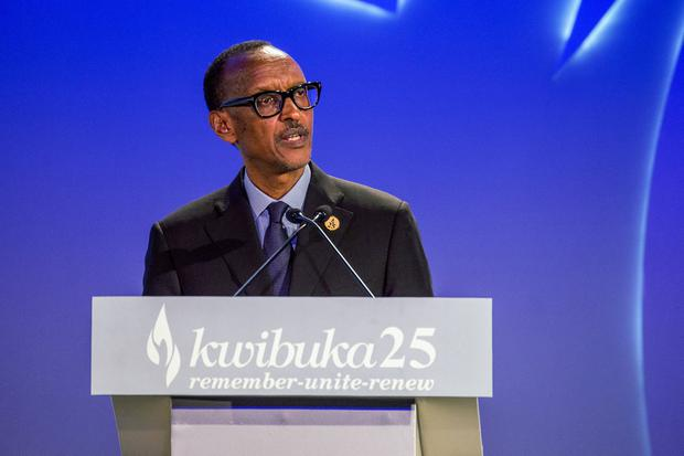 Rwandan President Paul Kagame delivers a speech marking the 25th anniversary of the 1994 Rwanda genocide at the Kigali Genocide Memorial in Kigali, April 7, 2019. REUTERS/Jean Bizimana.