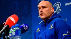 Leinster backs coach Felipe Contepomi during a press conference at Leinster Rugby Headquarters in UCD. Photo: Ramsey Cardy/Sportsfile
