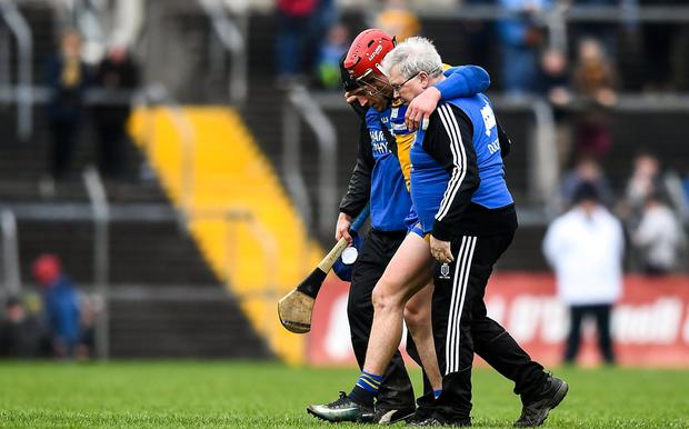 Conlon didn't start but his ten-minute second-half cameo off the bench was his first competitive action since limping off with an ankle injury in the Banner's League victory over Wexford in February. Photo: Eóin Noonan/Sportsfile