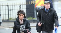 Support: Patrick Quirke with his wife Imelda at court. Picture: Collins