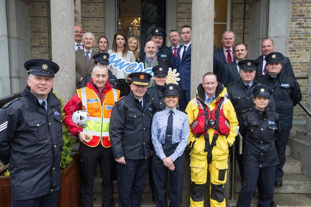 Garda Commissioner Drew Harris launched the Garda Hi5 Challenge. PHOTO: MARK CONDREN