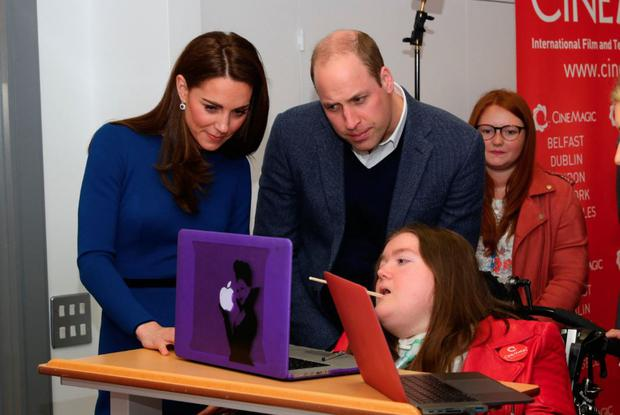 Phoebe meeting the Duke and Duchess of Cambridge on a visit to Northern Ireland. Photo: Aaron Chown/PA