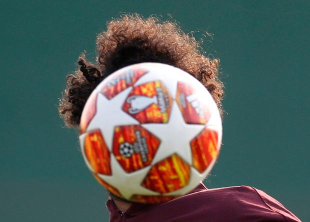 Liverpool's Mohamed Salah during training. Action Images via Reuters/Carl Recine